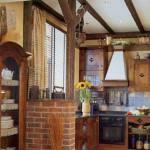 Маленькая кухня в стиле шале