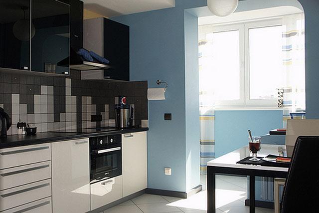 Балкон объединенный с кухней фото