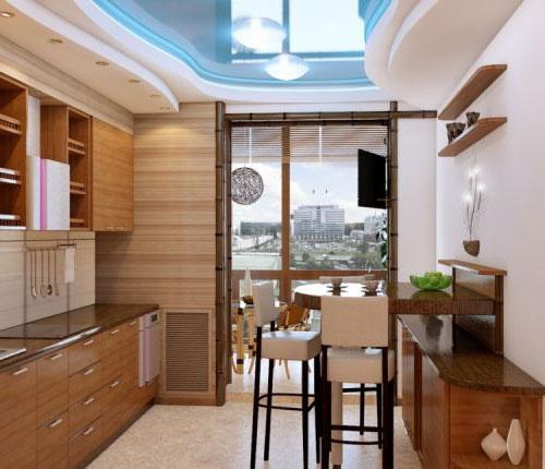 Дизайн кухни 10 кв м с балконом