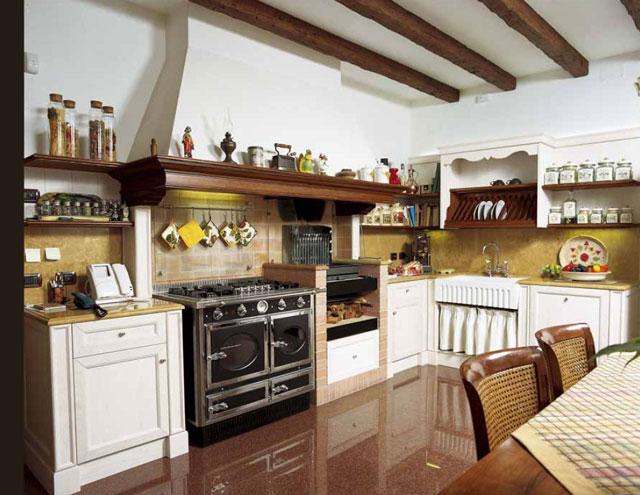 Вариант отделки кухни в частном доме