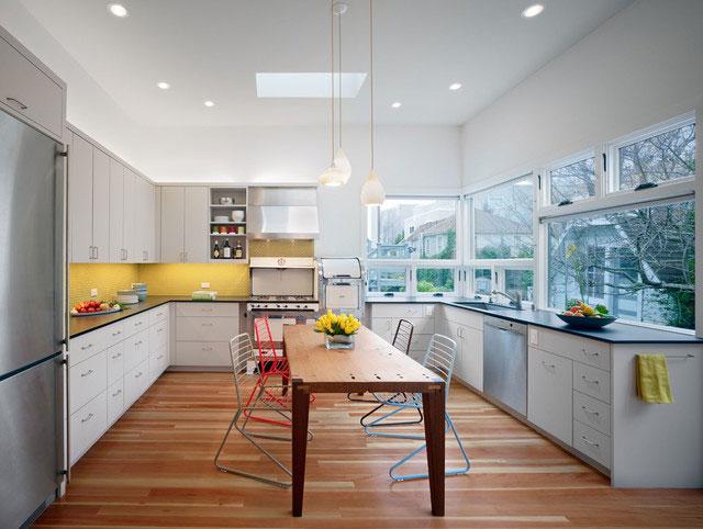 Цветовые решения для кухни - желтый цвет