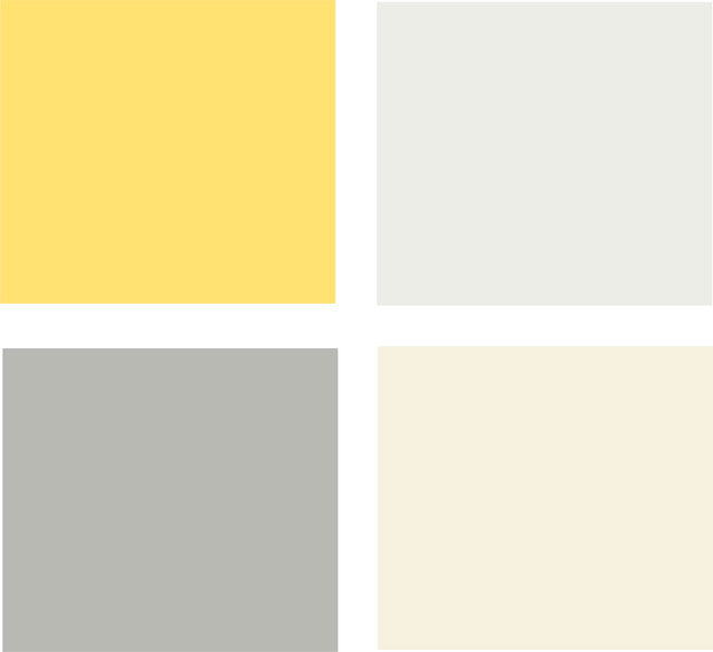 Желтая цветовая палитра для кухни