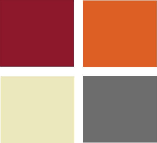 Сочетание цветов на кухне - теплая цветовая палитра