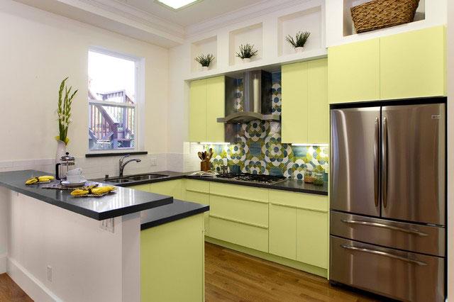 очетание цветов для кухни - теплая цветовая палитра