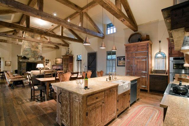 Оформление кухни в деревенском стиле
