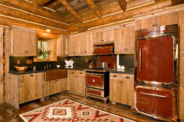 Дизайн кухни в деревенском стиле