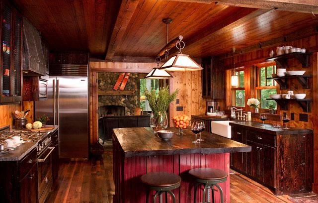 Дизайн красивой кухни в деревенском стиле