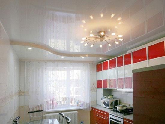 Подвесной потолок на кухне в хрущевке