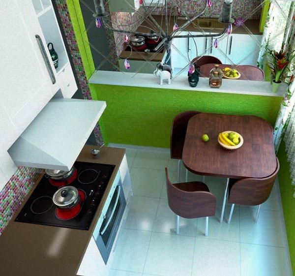 Стол для кухни в хрущевке лучше выбирать либо круглый, либо овальный