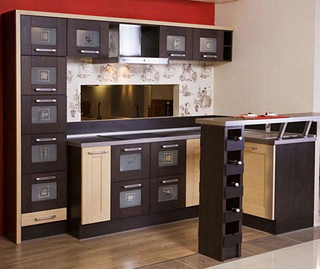 Планировка интерьера кухни в японском стиле