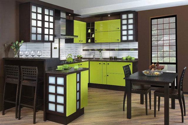 Выбор цвета и оформление кухни в японском стеле