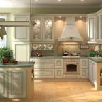 Дизайн угловой кухни в стиле классика