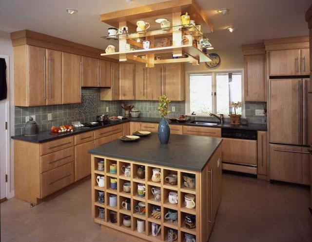 Дизайн кухни в стиле прованс с островом