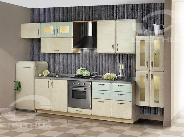 Интерьер светлой кухни в стиле ретро