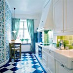 Дизайн узкой кухни в стиле ретро