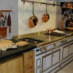 Кухня стилизованная под ретро