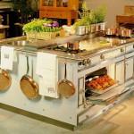 Остров на кухне в стиле ретро