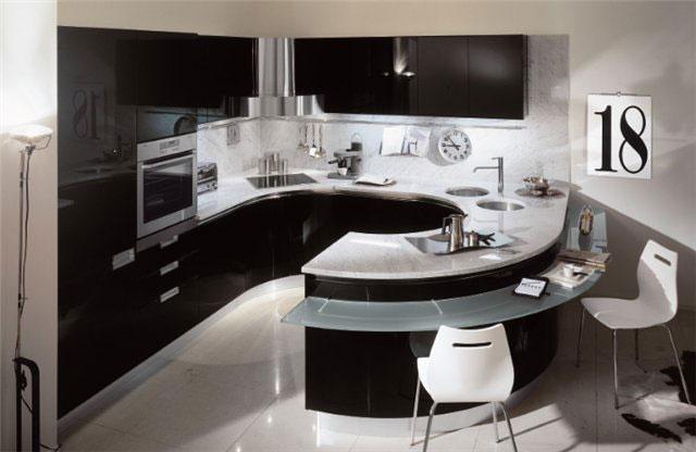 Дизайн красивой угловой кухни