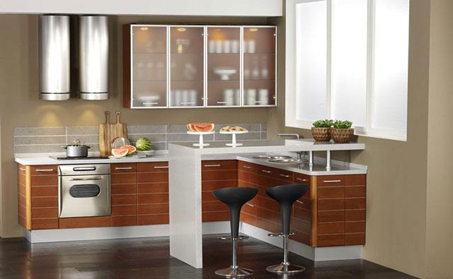 Дизайн стильной угловой кухни