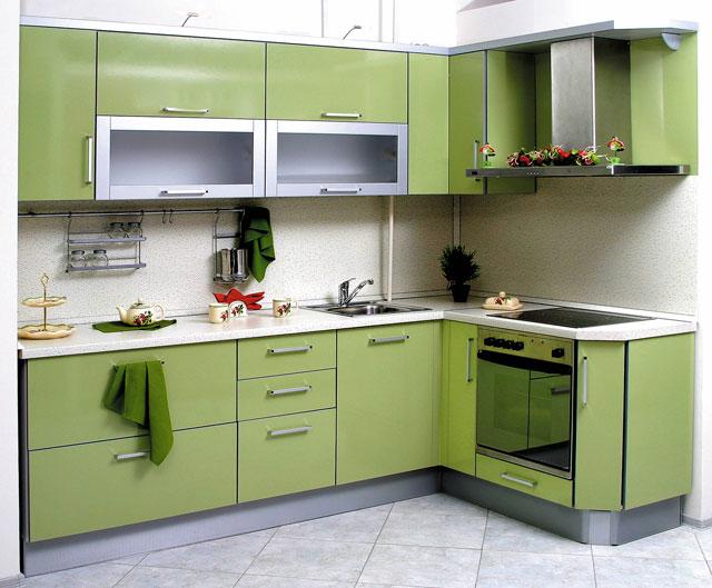 Дизайн стандартной угловой кухни