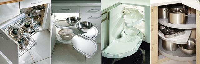 Дизайн кухни с угловым шкафом