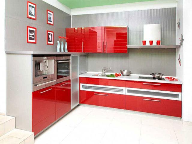 Дизайн угловой кухни в стиле модерн