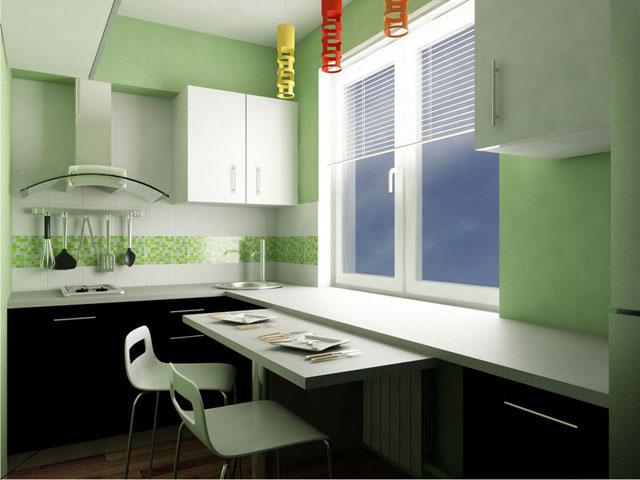 Длинная узкая кухня планировка