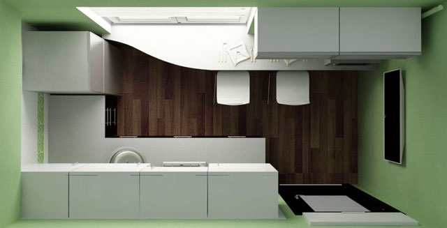 Как обставить узкую кухню 8 кв м