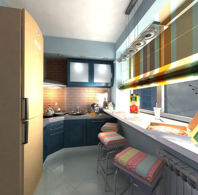 Выбираем мебель для узкой кухни