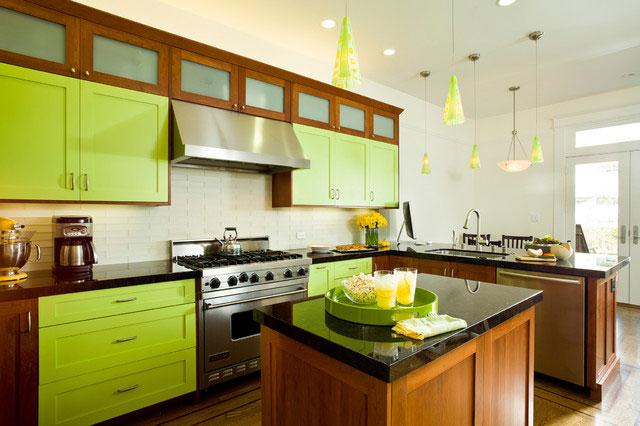 Зеленая кухня - фото