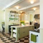 Дизайн кухни в сочетании черного и белого цвета