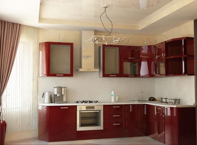 дизайн кухни гостиной с эркером