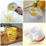 гаджеты для кухни - стаканчик, отделяющий желток от белка