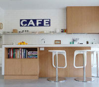 дизайн кухни в стиле кафе