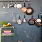 кухня в стиле кафе с фотообоями