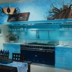 кухня цвета морской волны 2