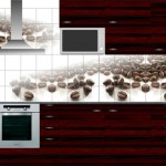 плитка для кухни фартук с фотопечатью