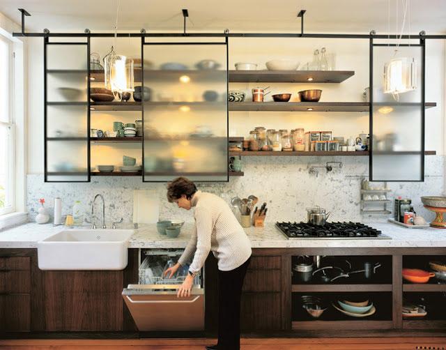 полочки для кухни с подсветкой