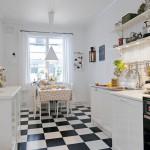 мебель на кухне в скандинавском стиле
