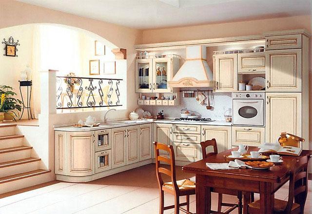кухня гостиная в средиземноморском стиле