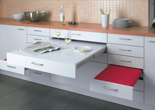 Кухонные столы для маленькой кухни - 9 фото-идей и советы по выбору