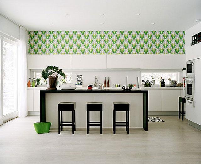 виниловые обои на кухню фото