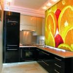 виниловые обои для стен на кухню с фотопечатью