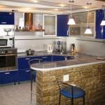 дизайн маленькой кухни в хрущевке с барной стойкой