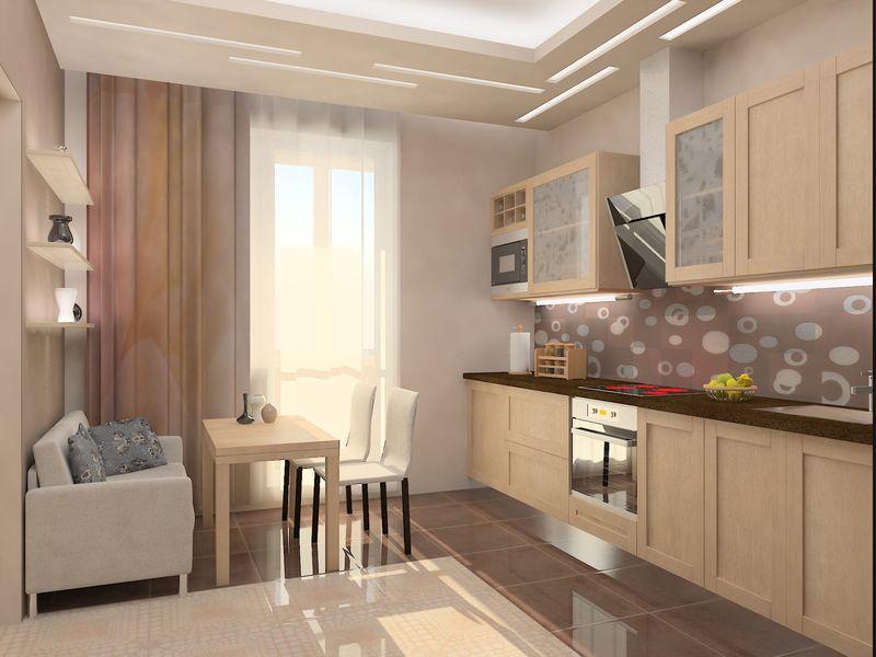 Дизайн проект маленькой кухня
