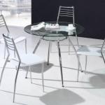 стеклянный круглый стол для кухни
