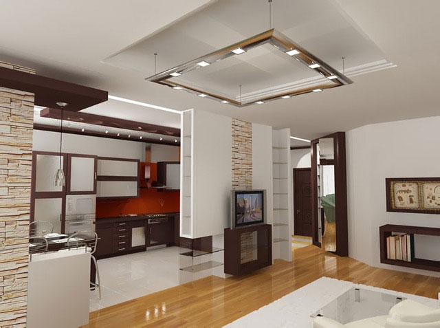 Дизайн кухня гостиная столовая фото