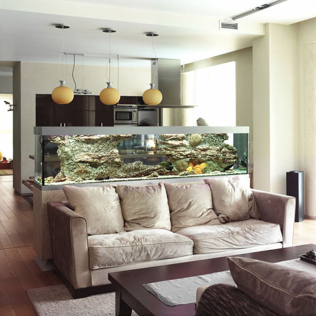 интерьер кухни совмещенной с гостиной фото