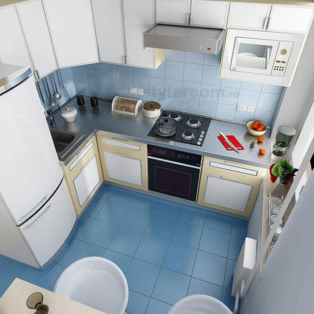 дизайн маленькой угловой кухни в хрущевке