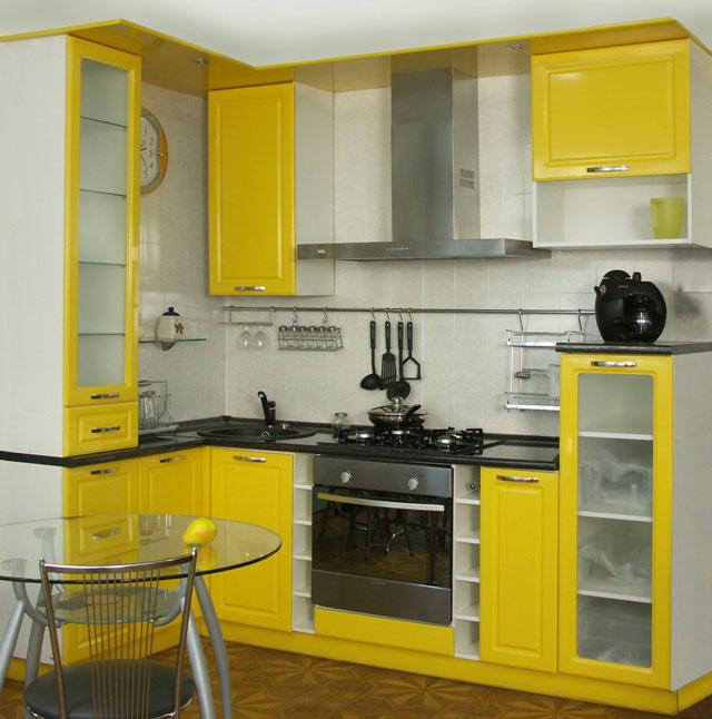 очень маленькие угловые кухни